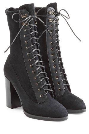 Lace Up Suede Boots Gr. IT 40