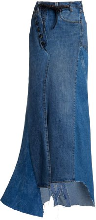Tom Ford Mid-Rise Denim Maxi Skirt