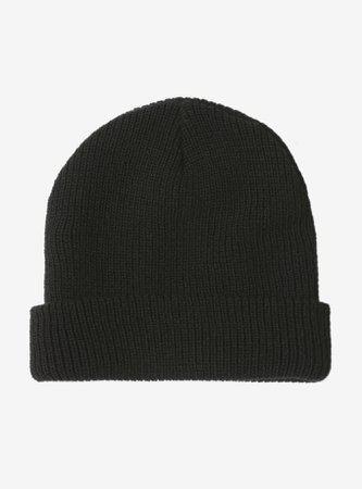 *clipped by @luci-her* Classic Black Beanie