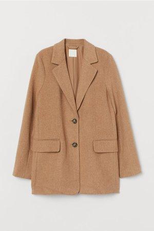 Saco de corte recto - Beige - Ladies | H&M MX