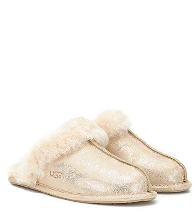 Scuffette II metallic suede slipper