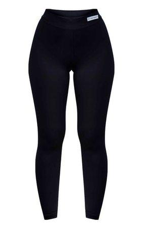 PRETTYLITTLETHING Black High Waist Gym Leggings | PrettyLittleThing