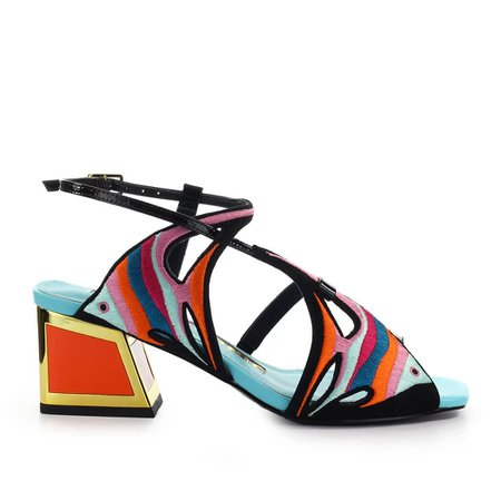 Kat Maconie Dory Black Multicolor Sandal