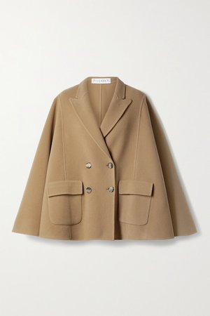 Double-breasted Wool Cape - Camel