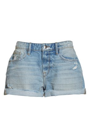 FRAME Le Grand Garcon Distressed High Waist Denim Shorts (Clash) | Nordstrom