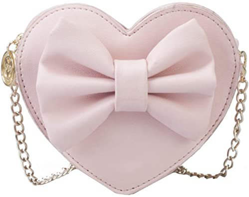 Amazon.com: Buddy Girls Bowknot Mini Coin Purse Heart Shape Cross Body Handbag Shoulder Bag Wallet Red: Shoes