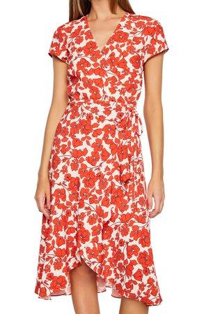Bardot Fiesta Floral Faux Wrap Dress | Nordstrom