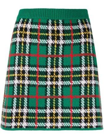 Miu Miu check-pattern Knitted Skirt - Farfetch