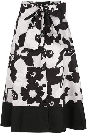button-through A-line skirt
