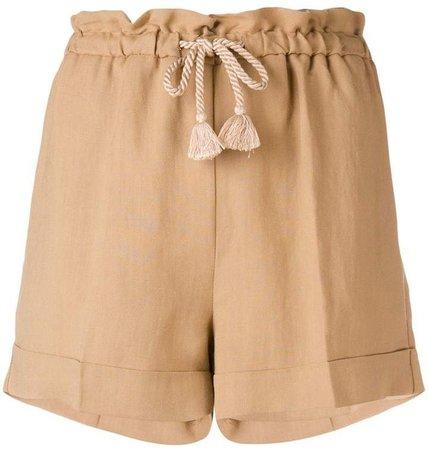 drawstring waist shorts