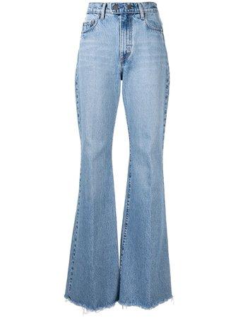 Blue Nobody Denim Marina Flared Jeans For Women | Farfetch.com