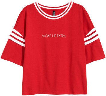 Short Jersey Top - Red
