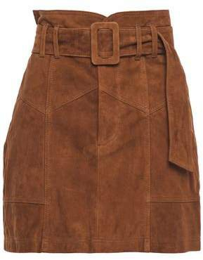 Claire Belted Suede Mini Skirt