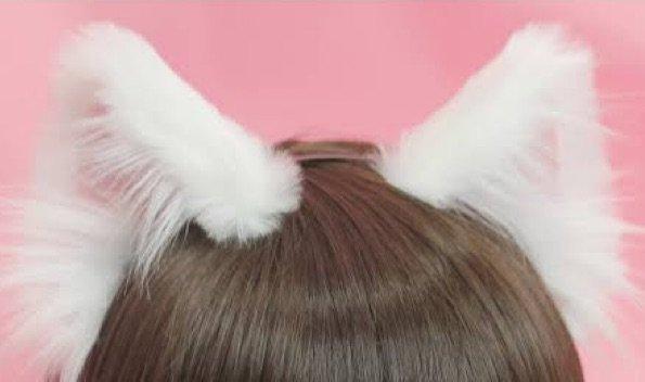white cat ears