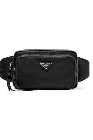 Prada | Leather-trimmed shell belt bag | NET-A-PORTER.COM