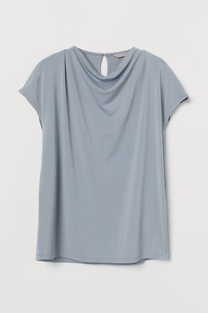 Draped Top - Turquoise
