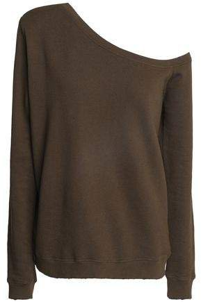 Claudine One-shoulder French Cotton-terry Sweatshirt