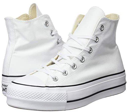 Chuck Taylor(r) All Star(r) Lift Hi (White/Black/White) Women's Shoes
