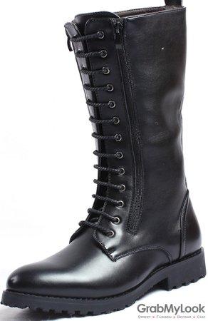 knee high combat boots mens