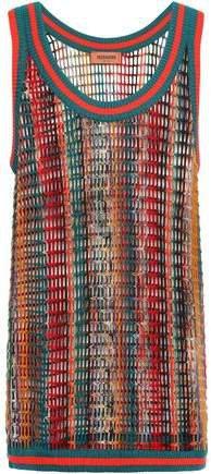 Open-knit Wool-blend Tank
