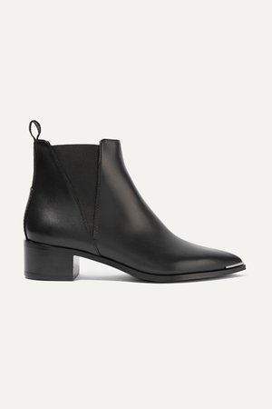 Black Leather ankle boots | Acne Studios | NET-A-PORTER