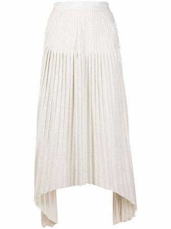 Atu Body Couture pleated asymmetric skirt - FARFETCH