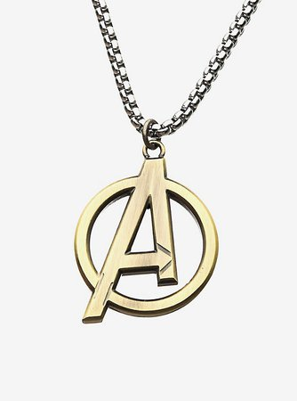 Marvel Gold Plated Avengers Logo Necklace