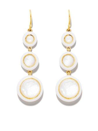 IPPOLITA 18kt Yellow Gold Lollipop® Carnevale 3-Stone Drop Earrings - Farfetch