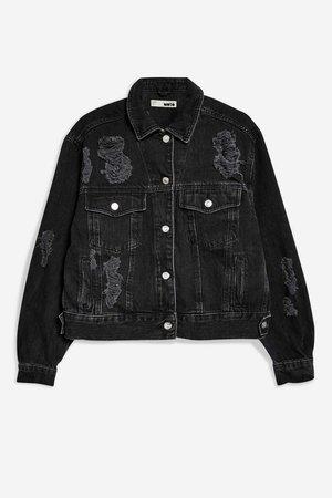 Oversized Ripped Denim Jacket - Jackets & Coats - Clothing - Topshop