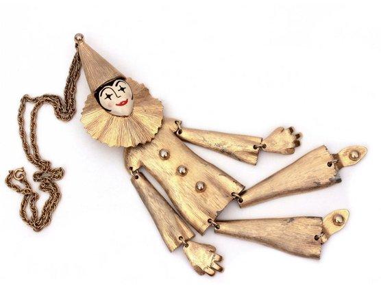 Polcini Pierrot Necklace Articulated Lee Menichetti Polcini | Etsy