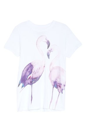 Chaser Flamingos Graphic Tee | white