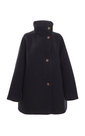 Oralis Funnelneck Wool-Blend Coat by Acne Studios   Moda Operandi