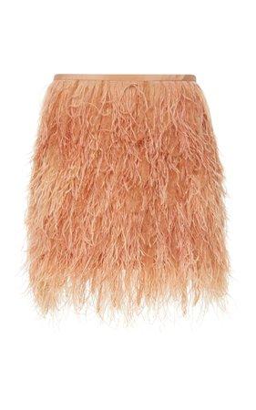 Feather-Embellished Mini Skirt by SemSem | Moda Operandi