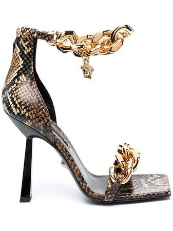 Versace Sandales Medusa 120 Mm - Farfetch
