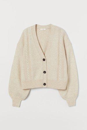 Knit Cardigan - Beige