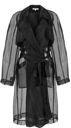 nevenka Big Rain Coming Silk Organza Trench Coat