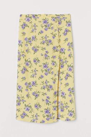 High-split Skirt - Yellow