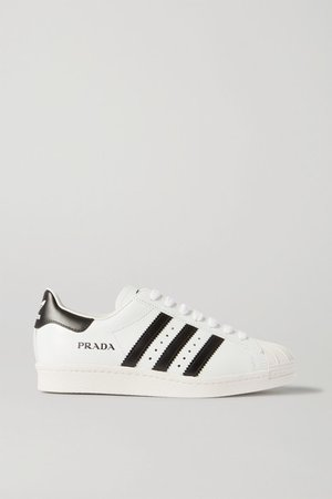 Prada Superstar Leather Sneakers - White