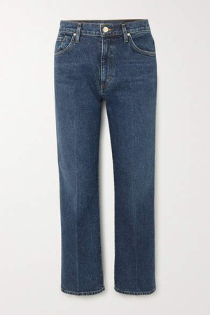 Net Sustain The Cropped A High-rise Straight-leg Jeans - Mid denim
