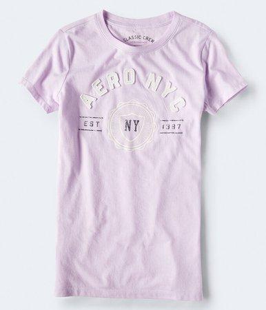 Aero NY Glitter Graphic Tee