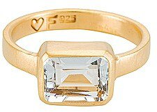 FAIRLEY Aquamarine Deco Ring