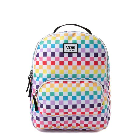 Vans Off the Wall Mini Checkerboard Backpack - Rainbow | Journeys