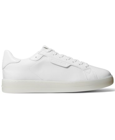 White  Michael Kors Keating Lace-Up Sneakers & Reviews - Athletic Shoes & Sneakers - Shoes - Macy's