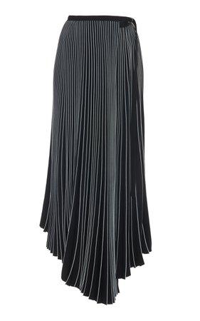 Asymmetric Pleated Crepe Maxi Skirt by Proenza Schouler   Moda Operandi
