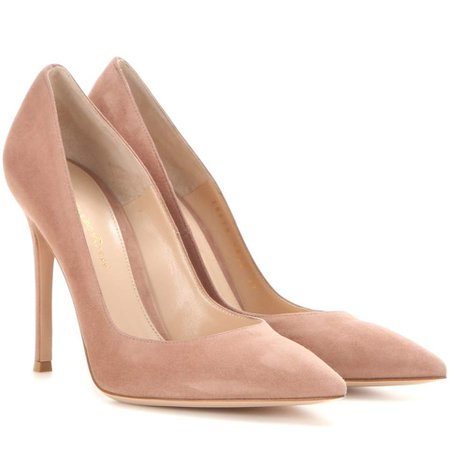 Gianvito Rossi Gianvito 105 Praline Suede Pumps - Kate Middleton Shoes - Kate's Closet