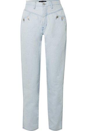J Brand | + Elsa Hosk Playday high-rise straight-leg jeans | NET-A-PORTER.COM