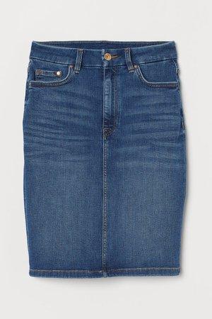 Embrace Denim Skirt - Blue