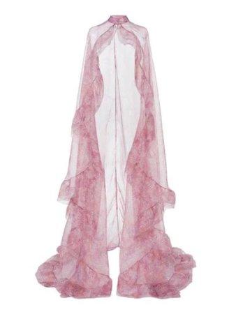 sheer pink veil