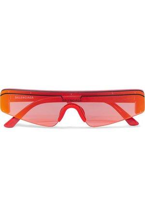 Balenciaga | Ski square-frame acetate mirrored sunglasses | NET-A-PORTER.COM