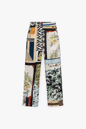 PATCHWORK PANTS LIMITED EDITION   ZARA United States